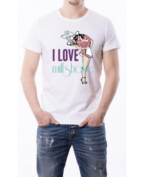 T-Shirt I love milf shake