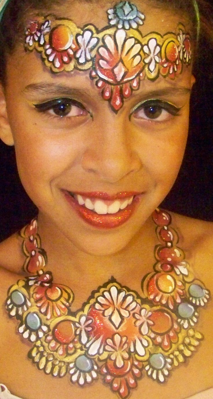 32 best images about face painting jewelry on pinterest for Latest face painting designs