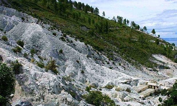 Sumber Mata Air Panas Pangururan dari Pusuk Buhit