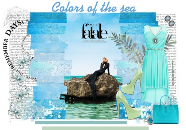 colors of the sea, created by majibitca on Polyvore