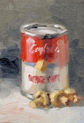 SOUP, IMPRESSIONIST PAINTING BY TOM BROWN, painting by artist Tom Brown