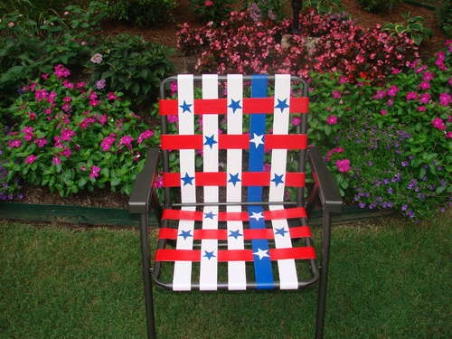 Revive an old lawn chair with the magic of duct tape