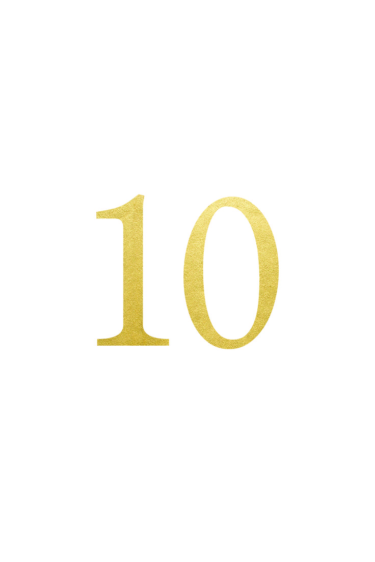 Free Gold Table Number Printable
