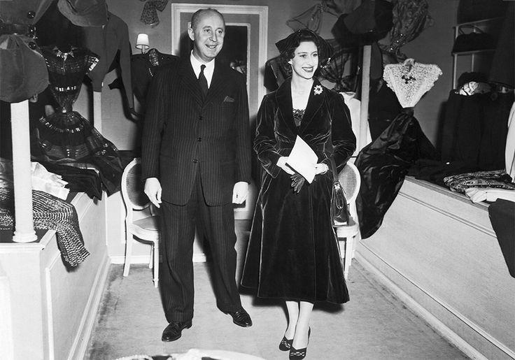 Кристиан Диор и принцесса Маргарет Роуз. Париж, 1951 год