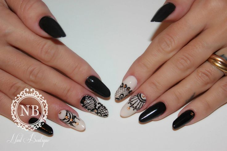 Perfect black&white nails. Nail Boutique nails