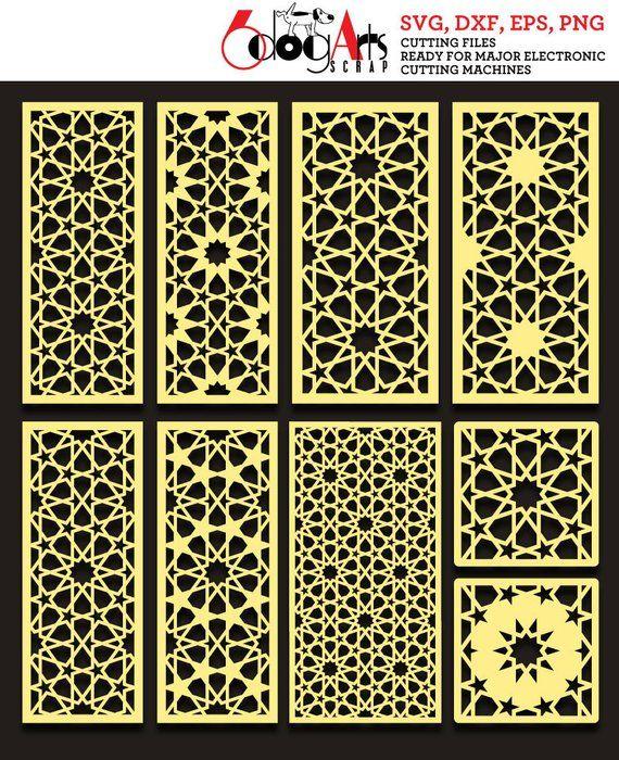 Arabesque Pattern Panel Templates Digital Stencils Cut Svg Dxf Files