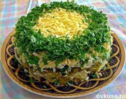 салат грибы под шубой