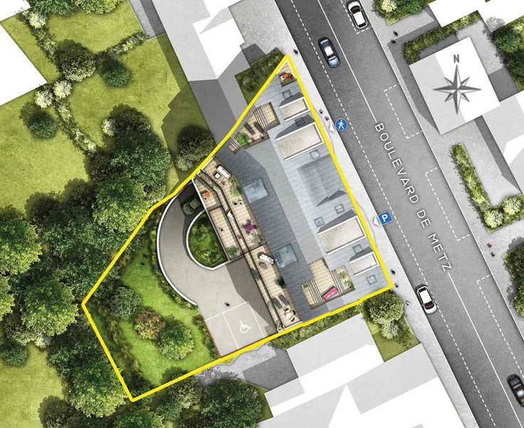 Icone - Plan de masse - Rennes - Appartements du T1 au T4 duplex -  Groupe Launay