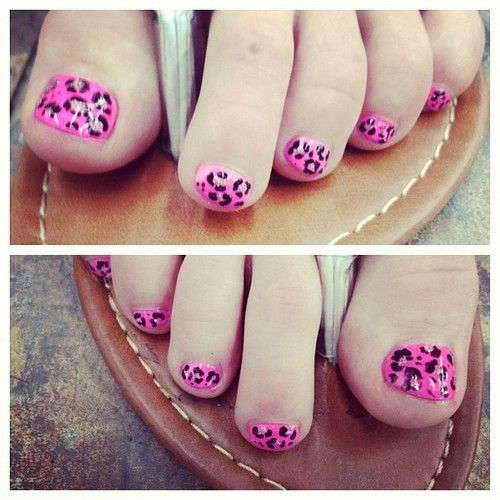 Little pink leopard toes for the birthday girl, Cat!  (Taken with Instagram): Cats, Pink Leopards Nails, Cheetahs Toe, Instagram, Pink Cheetah, Leopards Toe, Birthday Girls, Birthdays, Fingers Nails