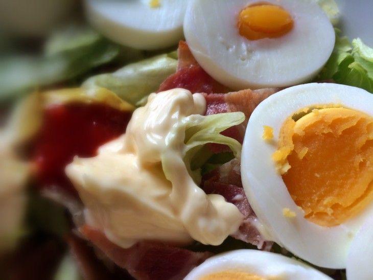 Bacon/egg salade