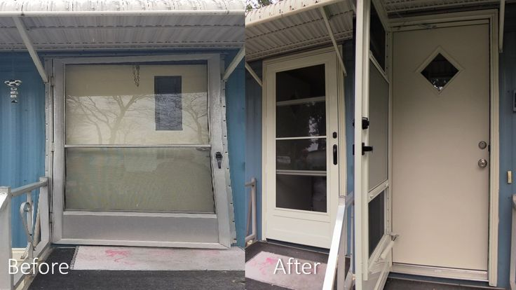 A new entry door and storm door installed to the delight of Larry and Janet in Slatington, PA, by Pinnacle Exteriors.  #exterior #exteriordesign #door #doorway #doordesign #entryway #entry #houseplan #houseandgarden #home #homesweethome #homeimprovement #lehighvalley #beforeandafter #beforeafter #jobs #project