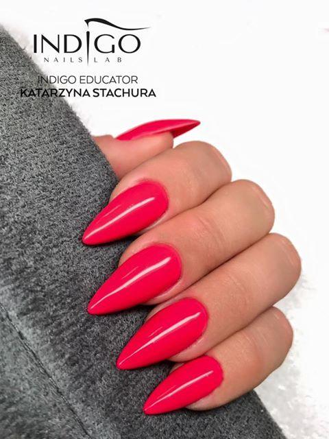 Raspberry Girl by Kasia Stachura Indigo Educator Poraj #nails #nail #indigo #indigonails #pink #pinknail #thinknails #wow #omg