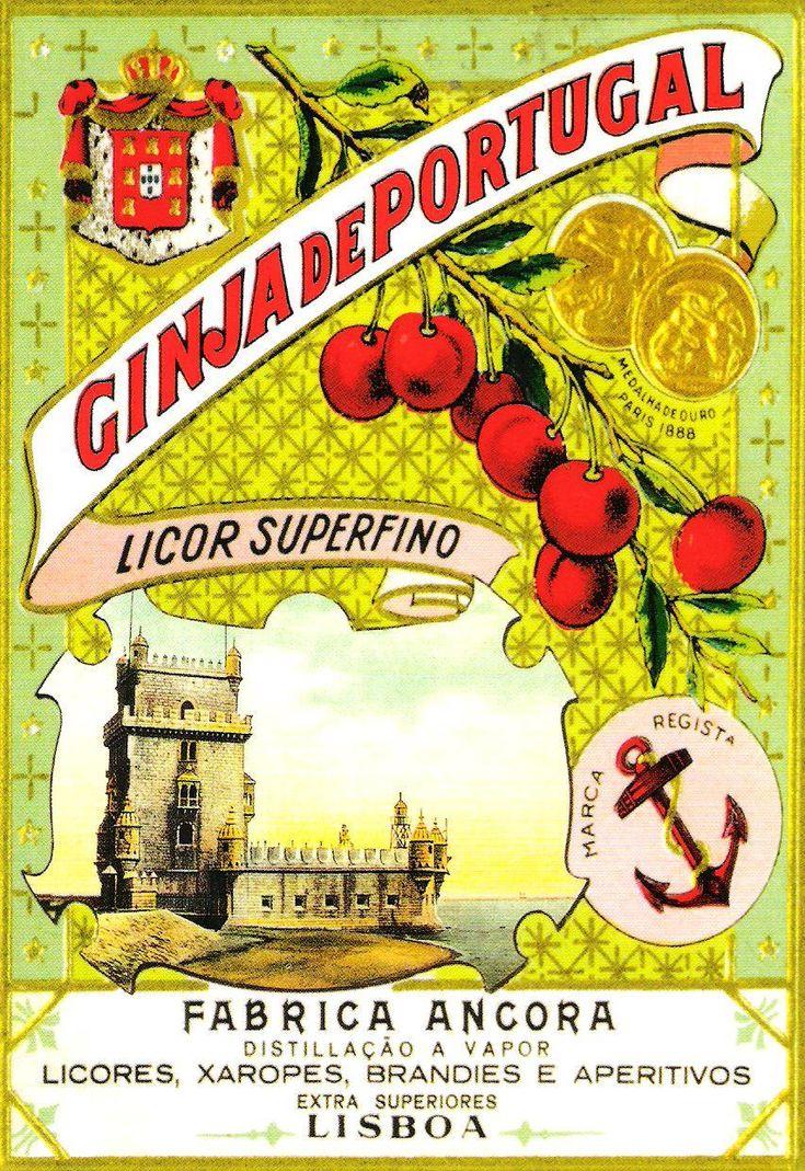 Ginja de Portugal, publicidade e ilustração do século XX, Portugal. Sent to Belgium.