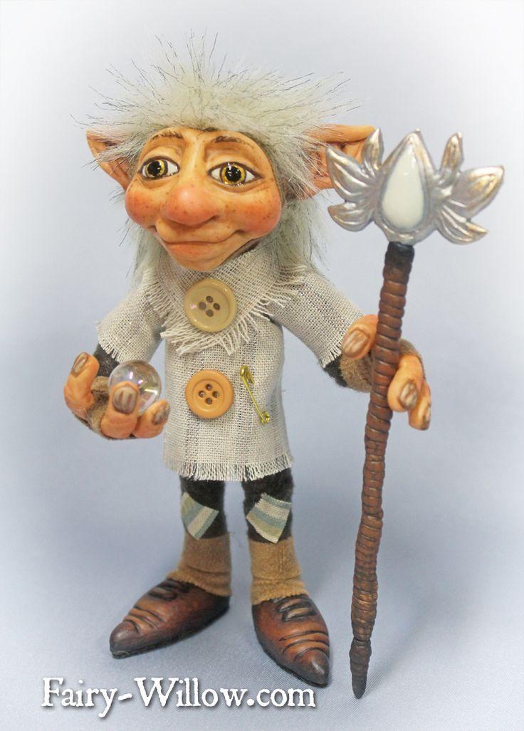 Crystal Guardian $125 http://fairy-willow.com/trolls.html#celaron