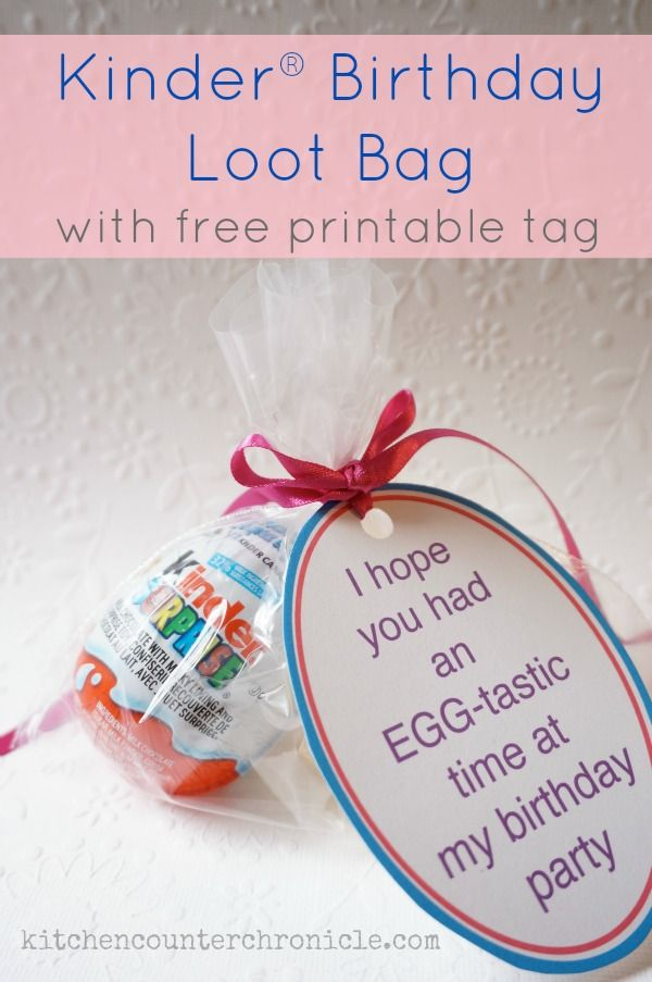 Kinder® Surprise® Birthday Party Loot Bags #KinderMom