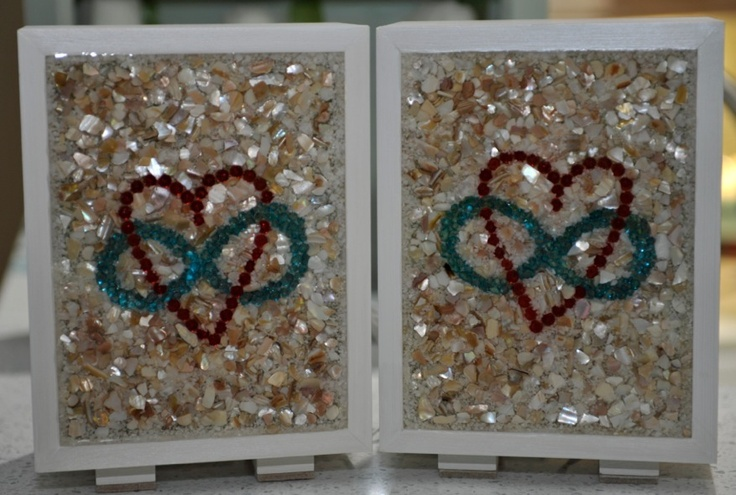 Glass block light box infinity heart my mosaic tile for Hollow glass blocks for crafts