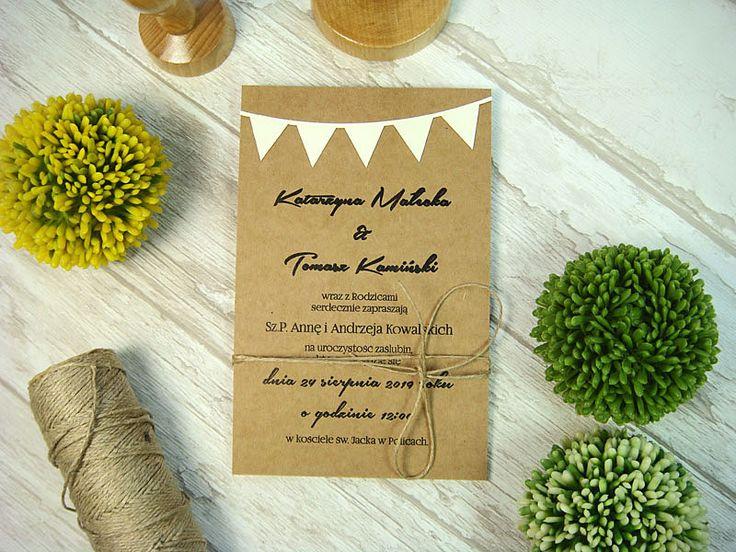 zaproszenia na ślub  na papierze ekologicznym, więcej na jotstudio.pl