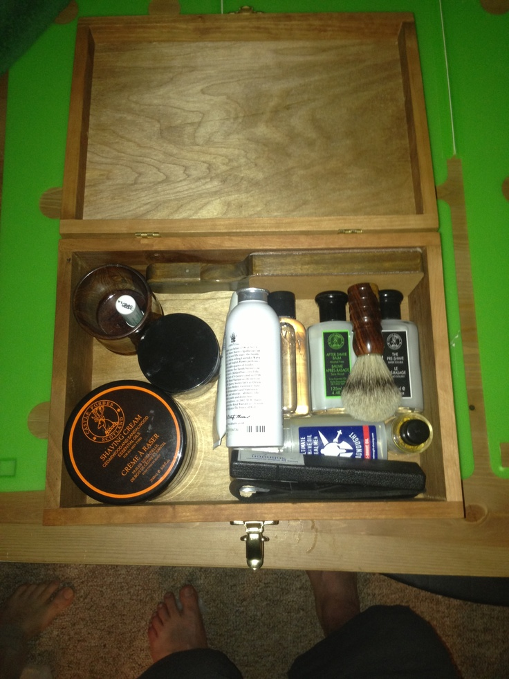New shave stuff. Hand made box and hand made brush and cup