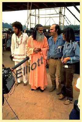 Sri Swami Satchidananda opened the 1969 Woodstock Music Festival  in Bethel, New York  on August 15, addressing a crowd of approximately 500,000.