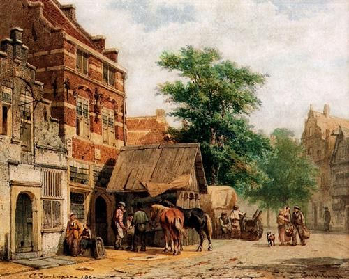View at Culemborg - Cornelis Springer
