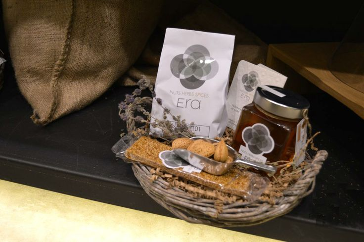 Baskets with spices - nuts - honey and herbs... Baskets with Greek flavors and exotic... Baskets that put your mind... Come #omirou2 at #NeoPsichiko to make a basket as you wish! #eragifts  #christmasgifts