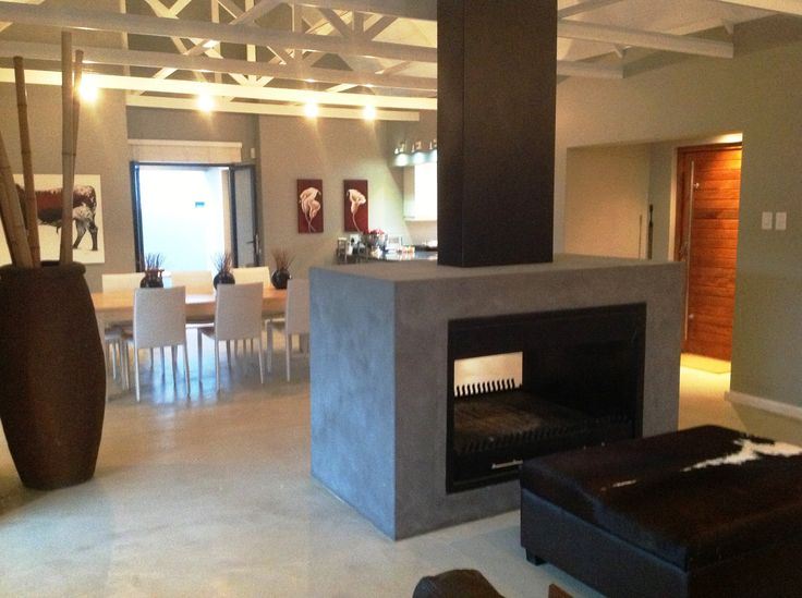 Open plan living area with huge fireplace - perfect for those chilly winter nights!