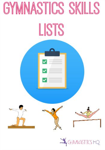 Skill lists for Bars, Beam and Floor, and Skill lists for each of the gymnastic levels
