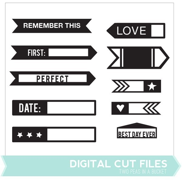 Milestone Labels Cut File - Available June 2013 only!