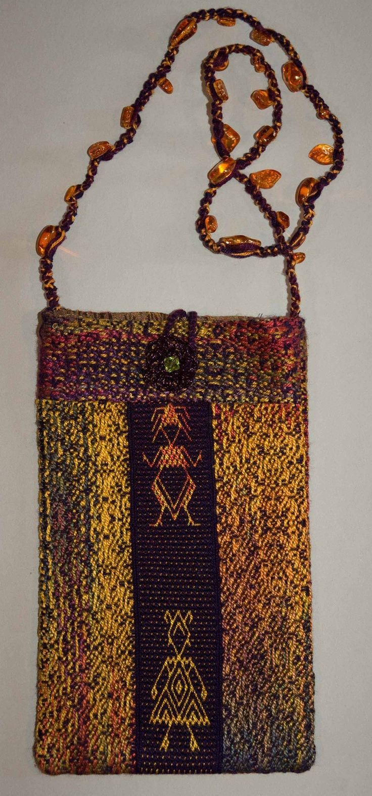 Bag made from leftover handwoven fabric