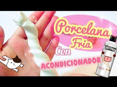 Como hacer porcelana fría con acondicionador / Super suave/ pasta francesa/ arcilla casera - YouTube