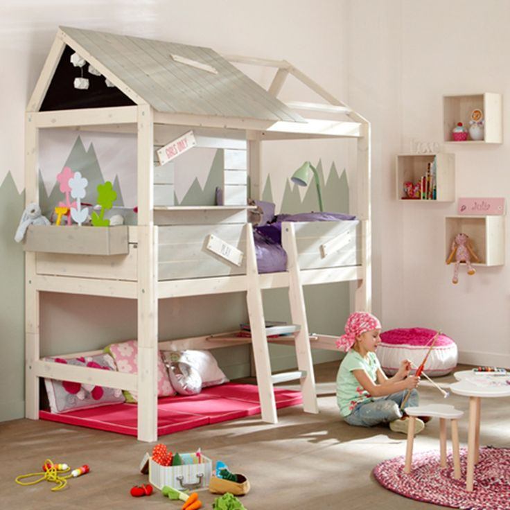 470 best children 39 s beds images on pinterest childrens for Cool high beds
