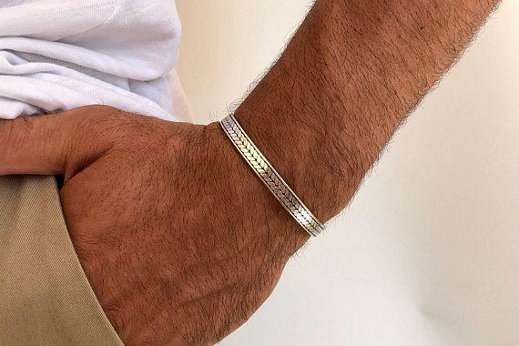 Men's Bracelet, Bangle Bracelet Men, Silver Bangle Bracelet, Cuff Bracelet Men, Gift for Him, Made in Greece, by Christina Christi Jewels.