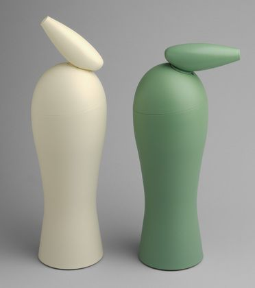 """Hot Fredo Thermos Philippe Starck (French, born 1949) 1993. Plastic and glass, Each: 14 1/2 x 6 3/4 x 4 3/4"""" (36.8 x 17.1 x 12.1 cm). Manufactured by Alfi, Wertheim, Germany. David Whitney Collection, Gift of David Whitney"""