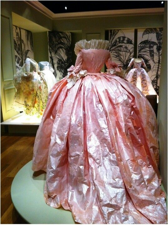 Dress worn by Marie Antoinette  so good the gown was saved.  how do they do that