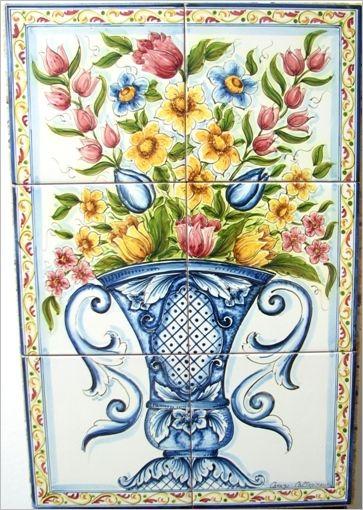 Pannello Murale Piastrelle - Ceramiche Artistiche di Caltagirone - La Ceramica di Caltagirone
