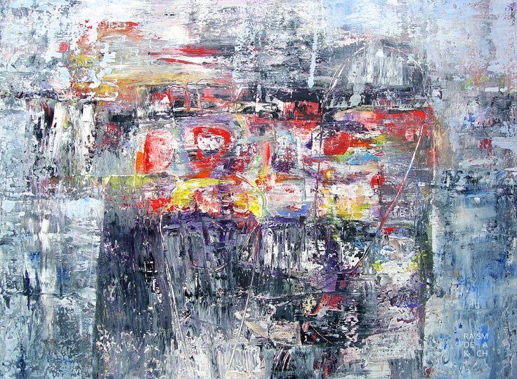 """Radek Šmach: """"Composition RC183"""", 2015 Acrylic on canvas / Akryl na plátně 50 x 70 cm"""