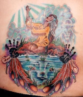 indian maiden tattoo