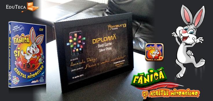 """""""Fănică şi asaltul microbilor"""" CÂȘTIGĂ argint la ZF Mobilio' 2013 - categoria Best Game!"""