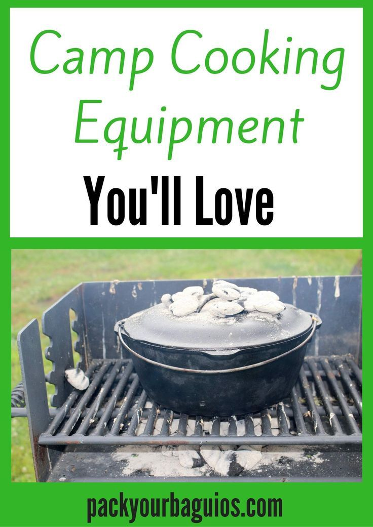 5 pieces of camp cooking equipment that will making cooking while camping fun for the whole family!
