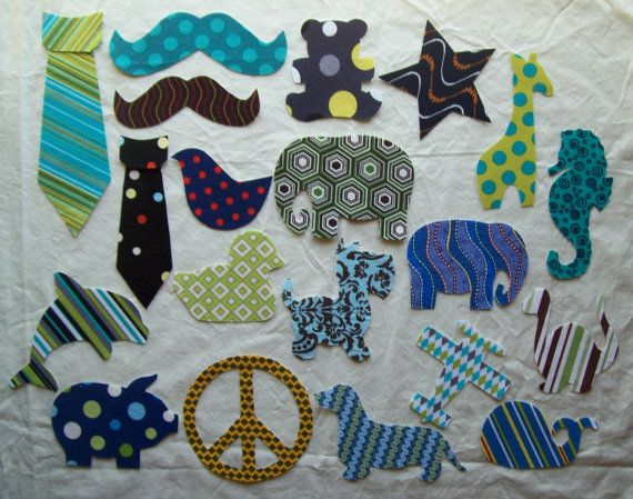 Mixed 20 Piece Diy Fabric Iron On Appliques For Boys