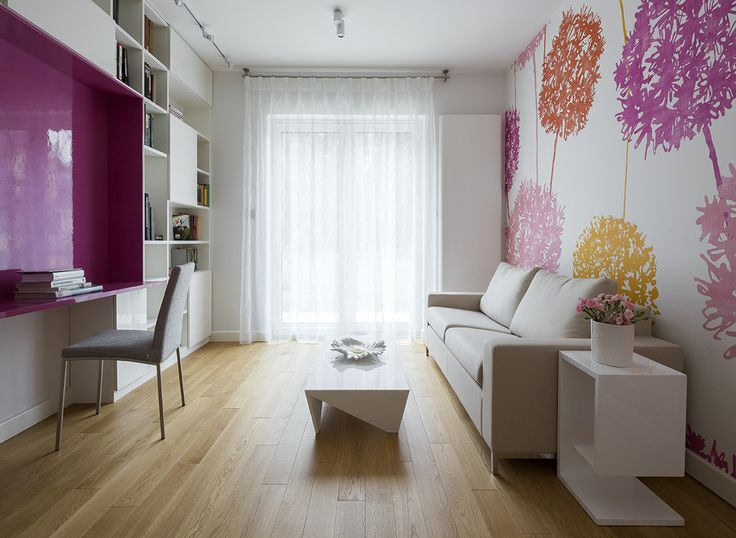 Colourful modern guest room,guest room with library, pink library, dark pink library Eijffinger wallpaper, Eijffinger amore di colore pink big flower