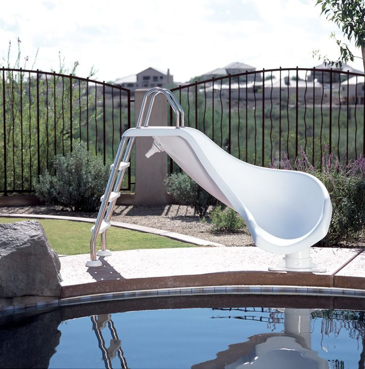 Inground Pools With Slide best 25+ above ground pool slide ideas on pinterest | swimming