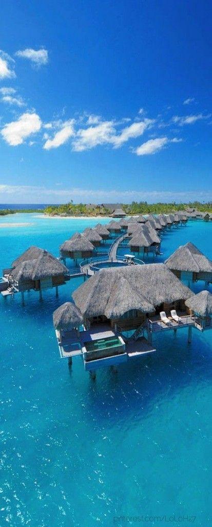 My 2nd pick on the wish list, beautiful Bora Bora at the french polynesia