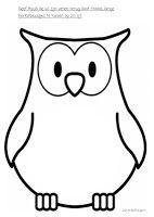 Geef Huub de Uil zijn veren terug door blaadjes te kleven op zijn buik
