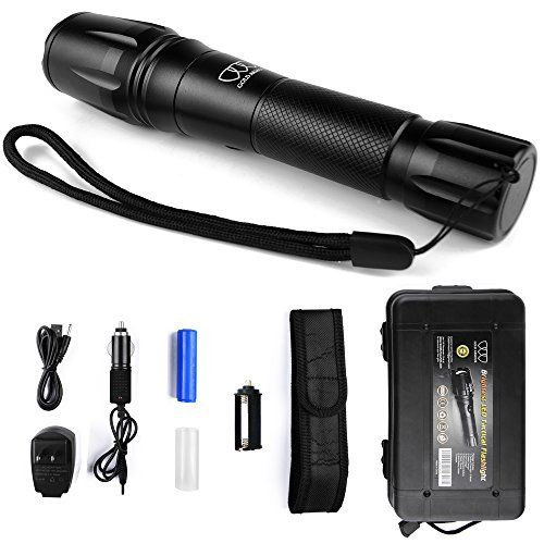 LED Tactical Flashlight, Brightest Flashlight Torch Light 1600Lumens, LED Tactical Flash light High Powered, Zoomable, Holster, Waterproof for Emergency Camping. For product & price info go to:  https://all4hiking.com/products/led-tactical-flashlight-brightest-flashlight-torch-light-1600lumens-led-tactical-flash-light-high-powered-zoomable-holster-waterproof-for-emergency-camping/