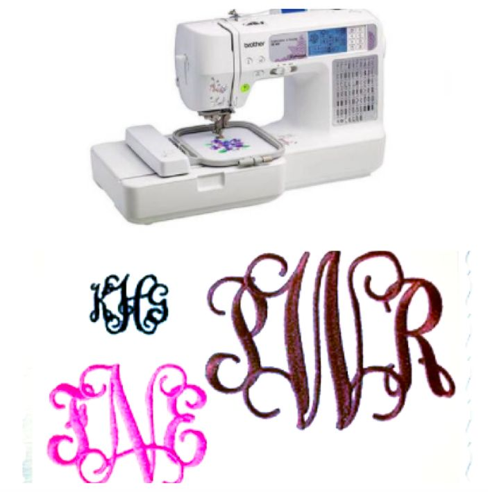 sewing machine with monogram