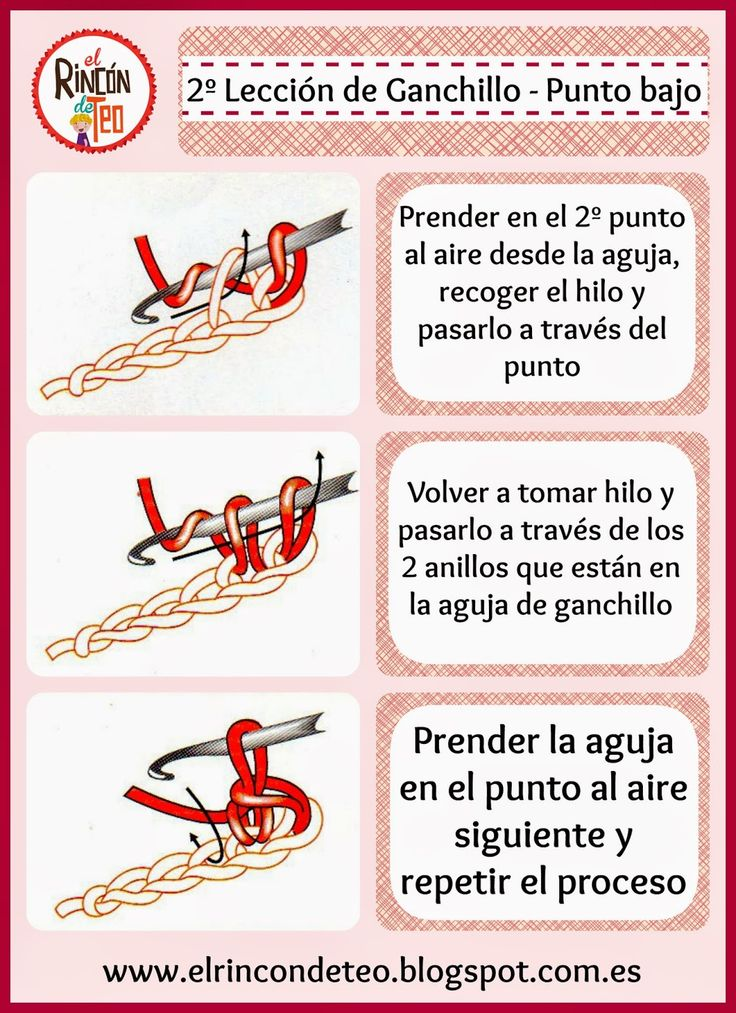 Segunda Lección de Ganchillo de El Rincón de Teo - Punto Bajo #ganchillo #crochet #tutorialganchillo #crochettutorial #crochettips #crochetlessons #aprendoganchillo #DIY #handmade