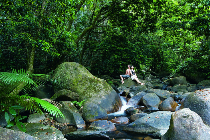 Crystal Cascades is a short car ride from the centre of town