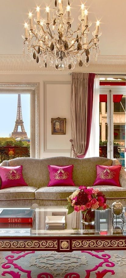 Parisian chic interior....Hotel Plaza Athenee, France