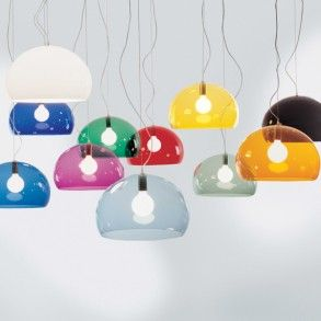 Kartell - the most iconic brand of all, Italian based makers of sophisticated and beautiful lighting solutions. Fly pendant is a great option as a kitchen pendant offering an easy clean, transparent and vibrant option perfect over dining spaces. http://www.williedugganlighting.com/shop/kartell-italy